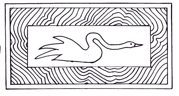 DiFranza Designs - Swan Rug - Rug Hooking Supplies
