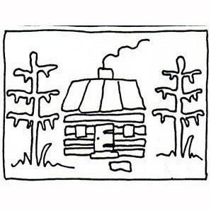 Ruckman Mill Farm - Log Cabin in the Pines - Rug Hooking Supplies