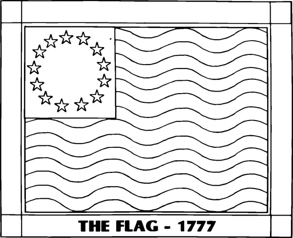 DiFranza Designs - The Flag - 1777 - Rug Hooking Supplies