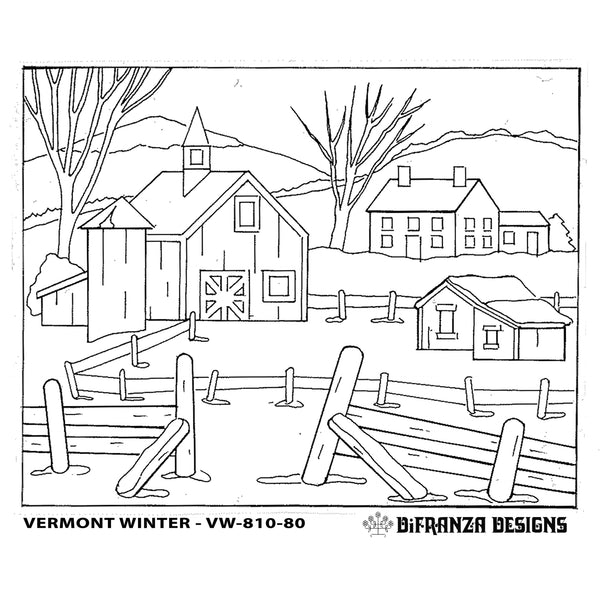 DiFranza Designs - Vermont Winter - Rug Hooking Supplies