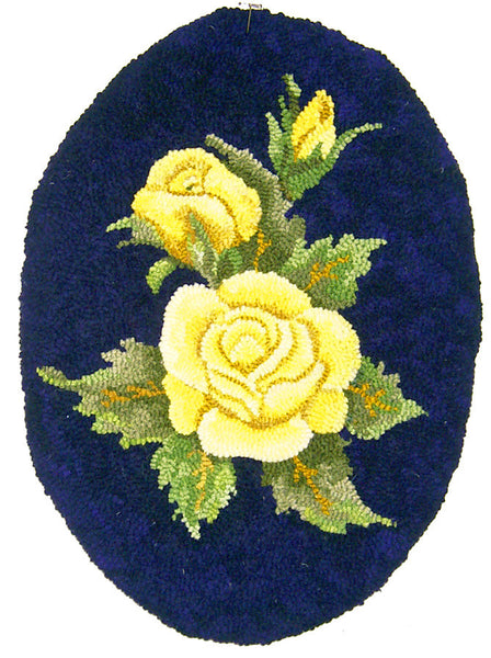 Kit - Yellow Rose - Rug Hooking Supplies