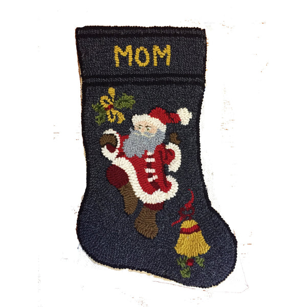 Kit - Dancing Santa Stocking - Rug Hooking Supplies