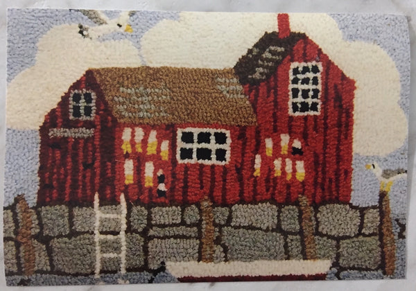 Kit - Fishing Shack - Rug Hooking Supplies