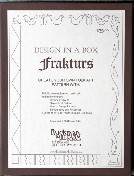 Design in a Box - Frakturs - Rug Hooking Supplies