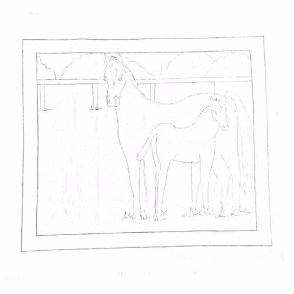 Green Mountain Design - Mare and Foal - Rug Hooking Supplies
