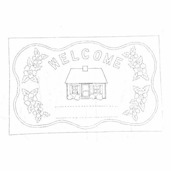 Green Mountain Design - Personal Welcome - Rug Hooking Supplies