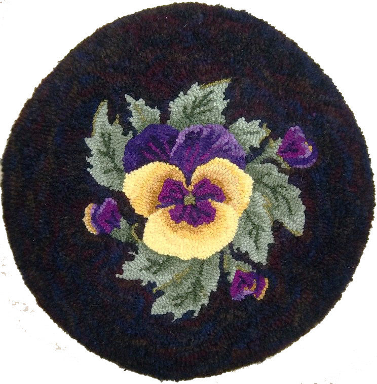 Kit - Spring Gift (Pansy) - Rug Hooking Supplies
