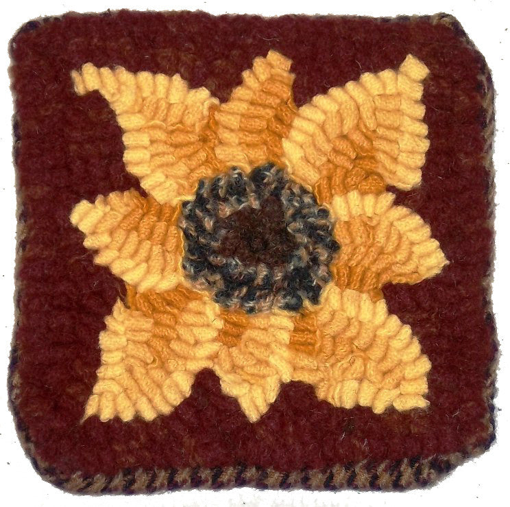 Kit - Sunflower Coasters - Rug Hooking Supplies