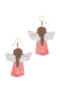Seed Bead Angle Hook Earring