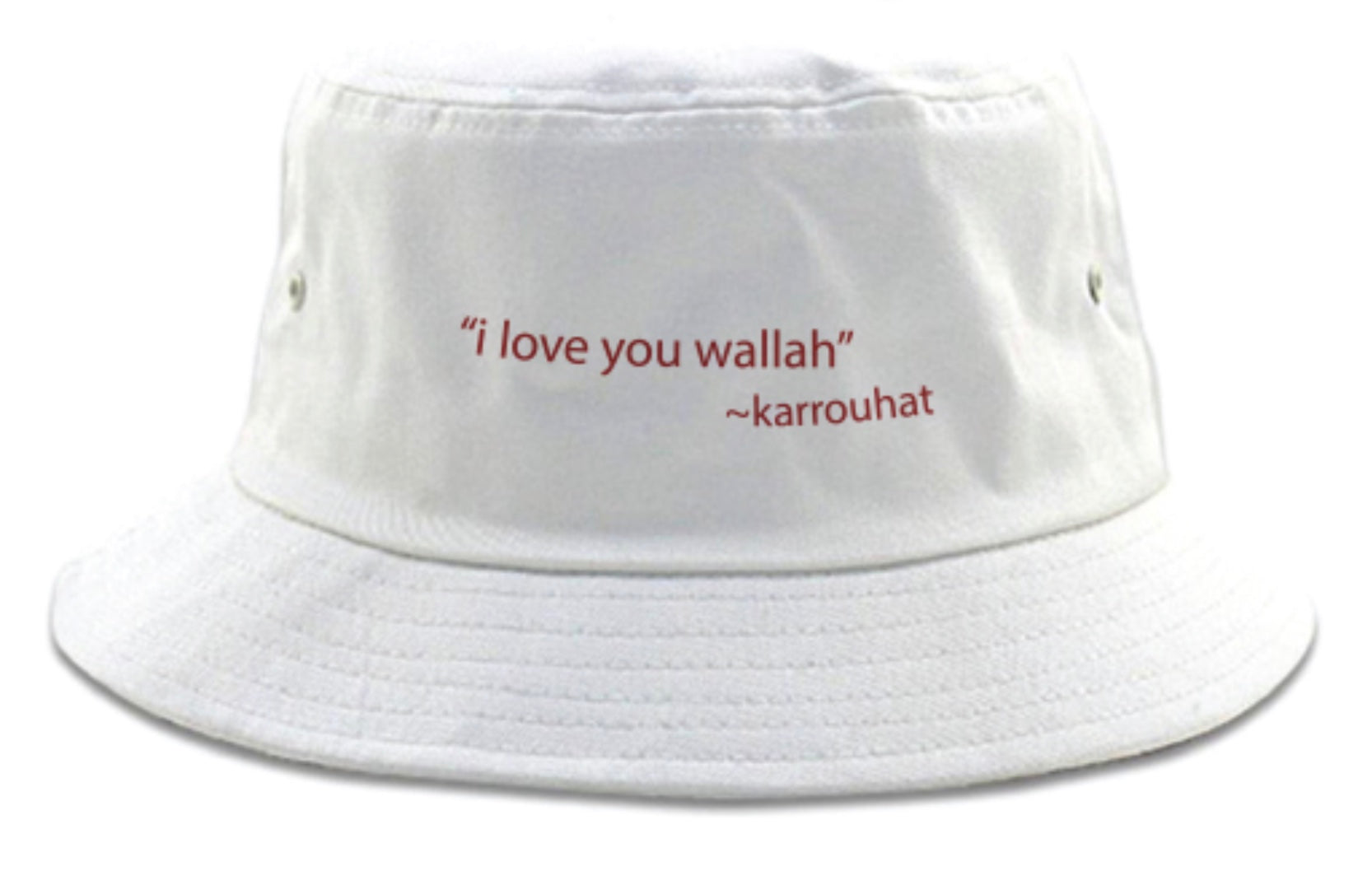 """i love you wallah"" Bucket hat"