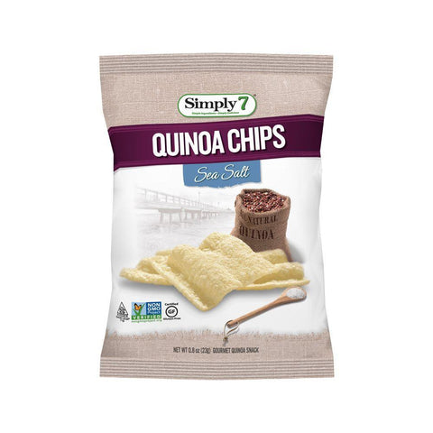Simply 7 Sea Salt Quinoa Chips, 0.8 Oz (Pack of 24)
