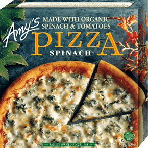 Amys Spinach Pizza , 14 Oz (Pack of 8)