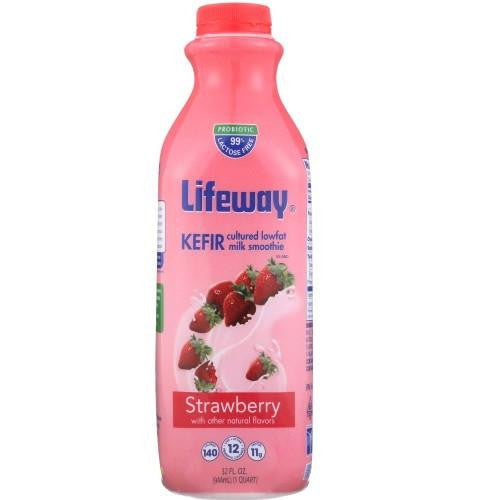 Lifeway Low Fat Strawberry, 32 Oz (Pack of 6)