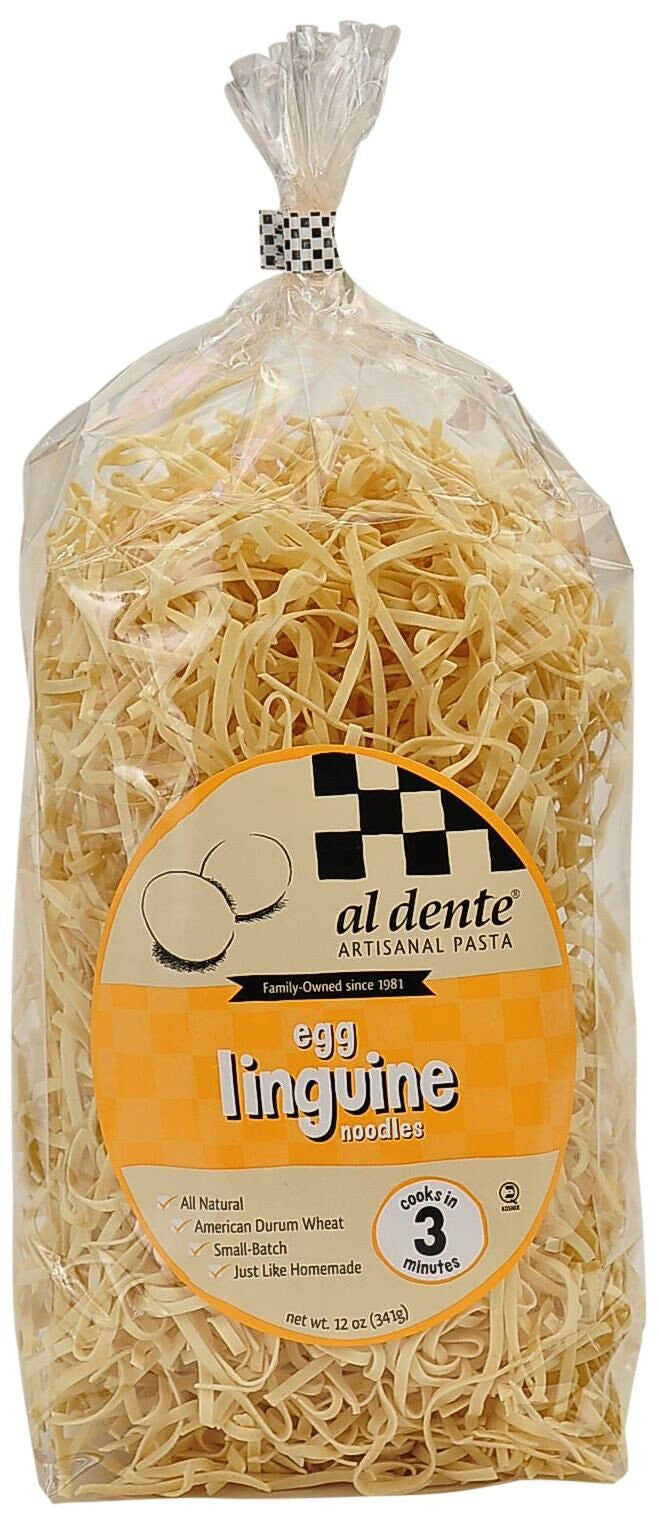 Al Dente Egg Linguine Noodles, 12 Oz (Pack of 6)