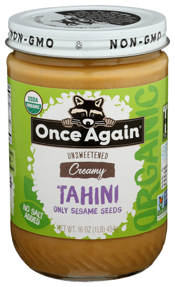 Once Again Organic Sesame Tahini 16 oz, (Pack of 6)