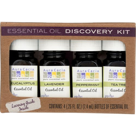 AURA CACIA ESSENTIAL OILS DISCOVERY KIT 0.25 OZ (Pack of 1)