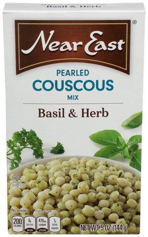 Near East Basil & Herb Pearled Couscous 5.00 Oz (Pack of 12)