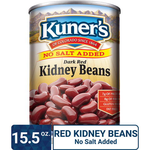 Kuner's Kidney Beans No Salt Added, 15.5oz (Pack of 12)