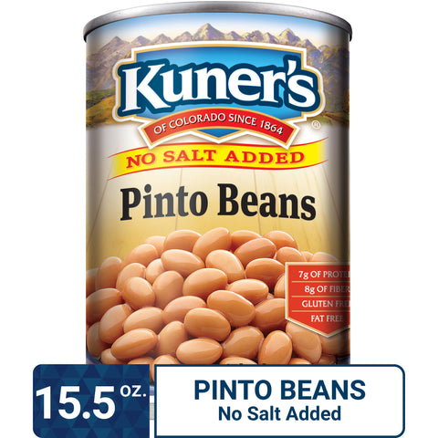 Kuner's Pinto Beans No Salt Added, 15.5oz (Pack of 12)