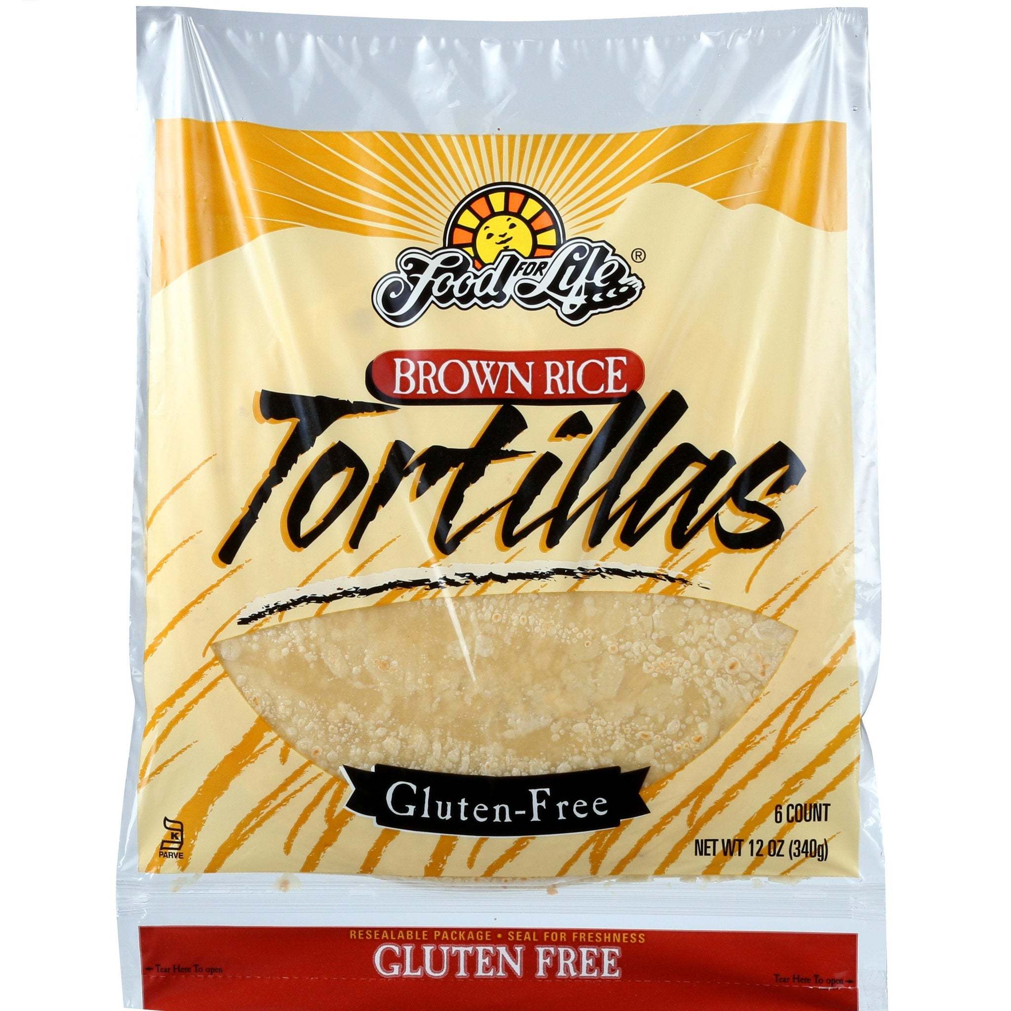 Food For Life Gluten Free Brown Rice Tortillas, 12 Oz (Pack of 12)