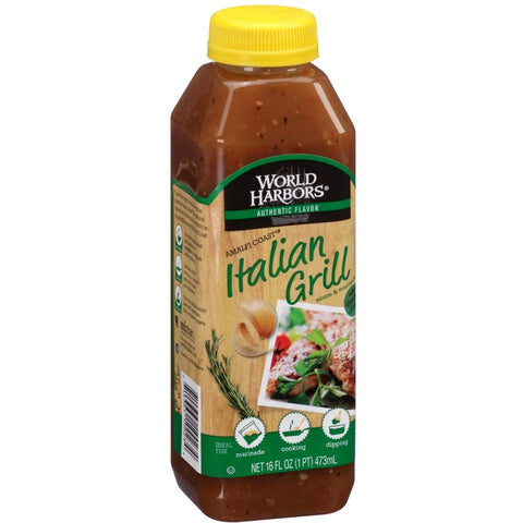 World Harbors Mediterranean Style Italian Grill Sauce, 16 OZ (Pack of 6)