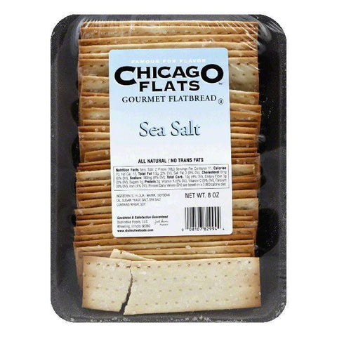 Chicago Flats Sea Salt Flatbread, 8 oz (Pack of 10)