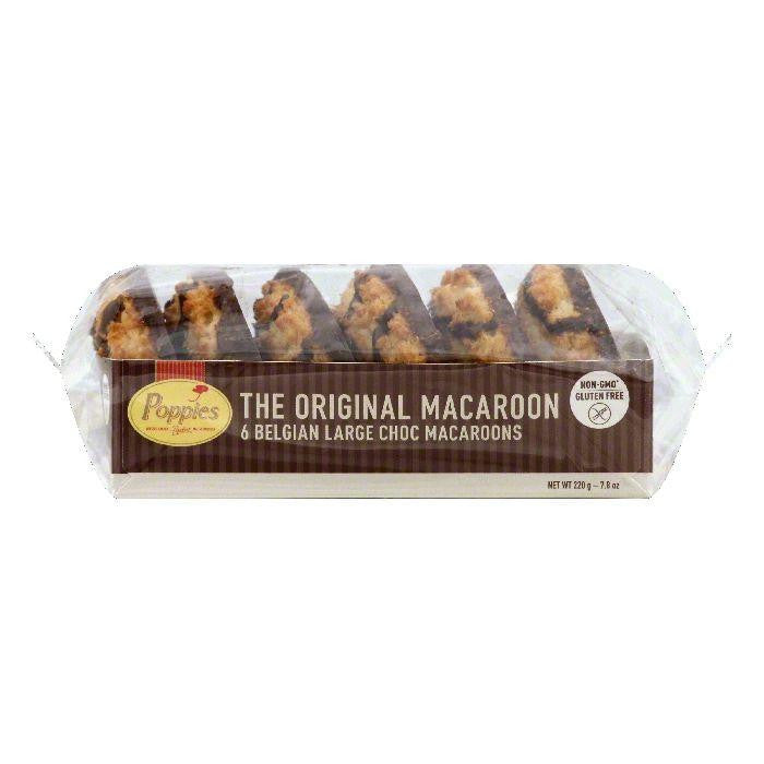 Poppies Choc Large Belgian Macaroons, 6 ea (Pack of 12)