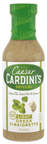 Cardini's Light Greek Vinaigrette Dressing 12 fl. Oz  (Pack of 6)