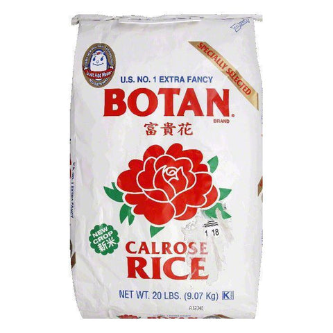 Botan Rice Extra Fancy Calrose Medium Grain Rice, 20 LB