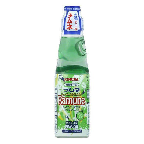 Kimura Melon Flavor Carbonated Soft Drink, 6.76 Oz (Pack of 18)