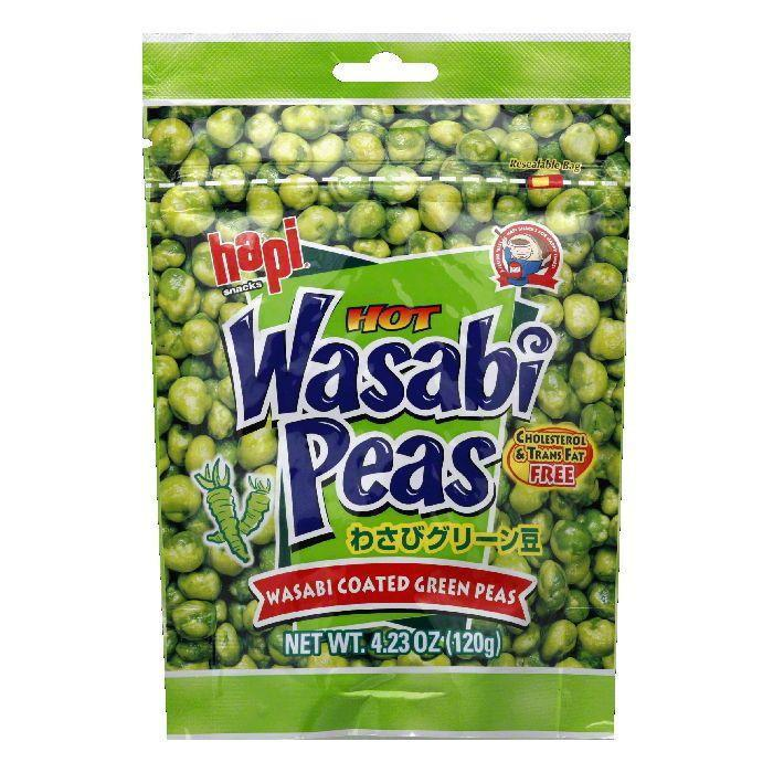 Hapi Snack Pea Green Wasabi, 4.23 OZ (Pack of 12)