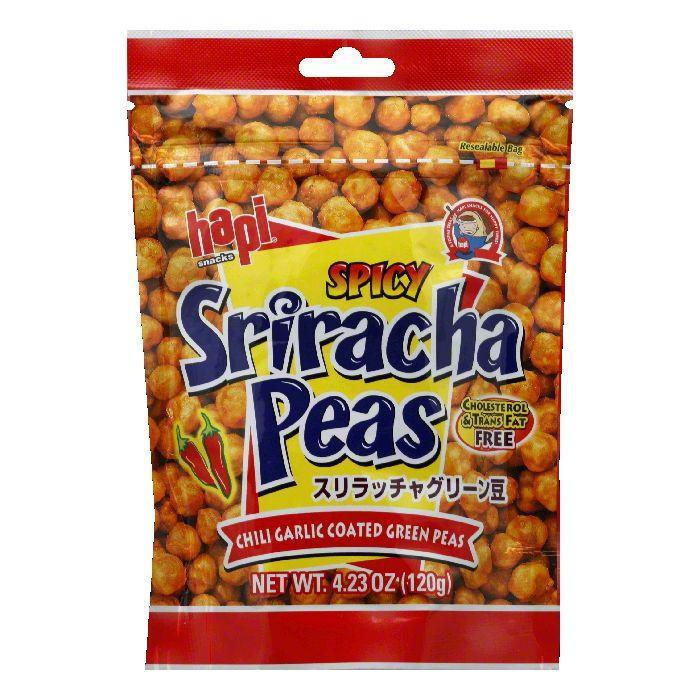 Hapi Snack Pea Green Chili, 4.23 OZ (Pack of 12)