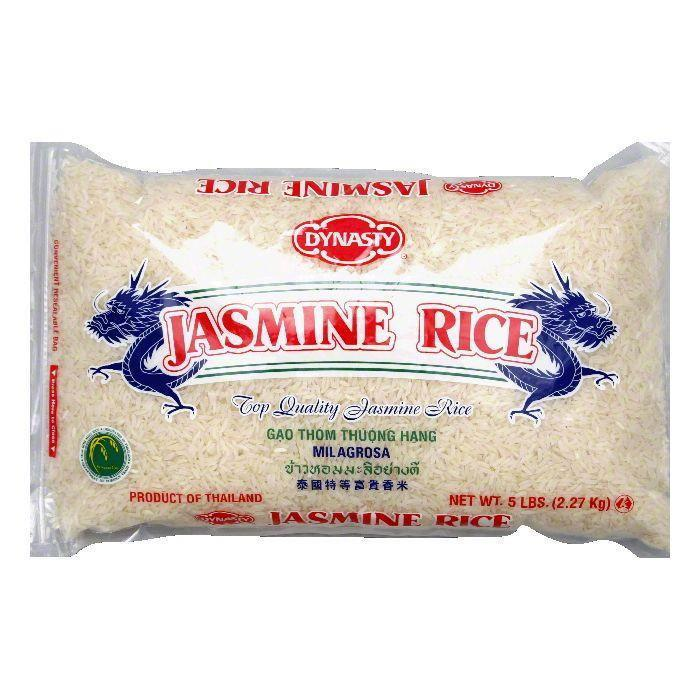 Dynasty Rice Jasmine Long Grain, 5 LB (Pack of 6)