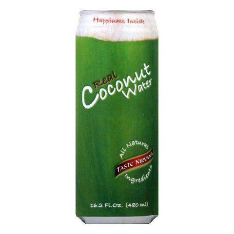 Taste Nirvana Coconut Water Can, 16.2 FO (Pack of 12)