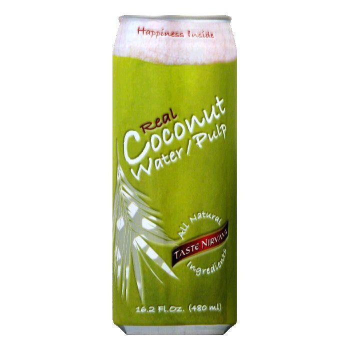 Taste Nirvana With Pulp in Can Coconut Water, 16.2 FO (Pack of 12)