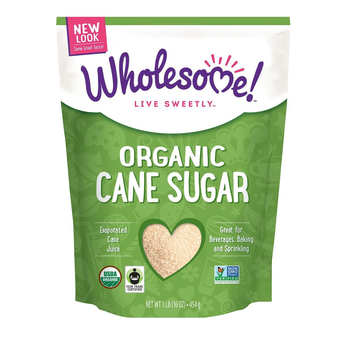 Wholesome Sweeteners Organic Sugar, 16 Oz (Pack of 12)