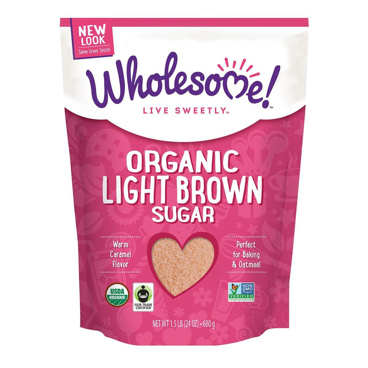 Wholesome Sweeteners Light Brown Organic Sugar, 1.5 Lb (Pack of 6)