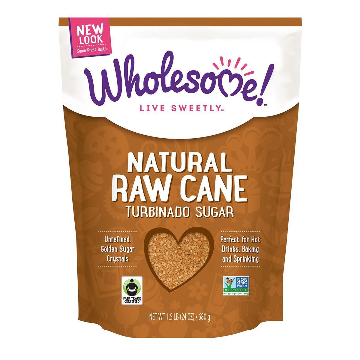 Wholesome Sweeteners Raw Cane Sugar, 24 Oz (Pack of 12)