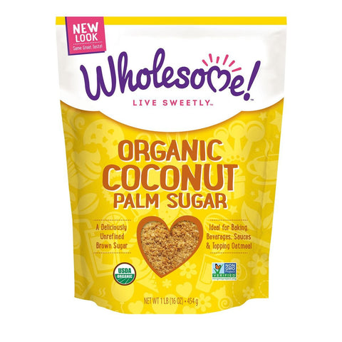 Wholesome Sweeteners Organic Coconut Palm Sugar, 1 Lb (Pack of 6)