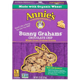 Annie's Homegrown Bunny Grahams Chocolate Chip Whole Grain Graham Snacks 7.5 Oz (Pack of 12)