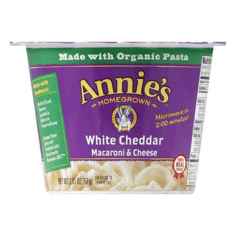 Annies White Cheddar Macaroni & Cheese, 2.01 Oz (Pack of 12)