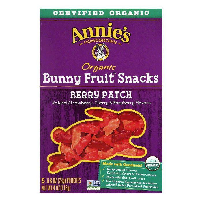 Annies Homegrown Organic Berry Patch Fruit Snacks, 4 OZ (Pack of 12)