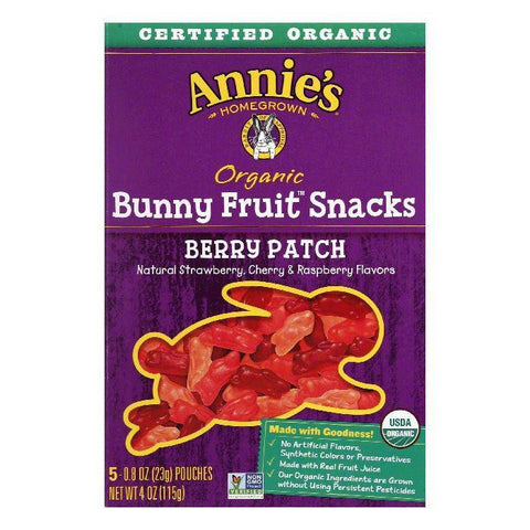 Annies Homegrown Organic Berry Patch Fruit Snacks, 4 OZ (Pack of 10)