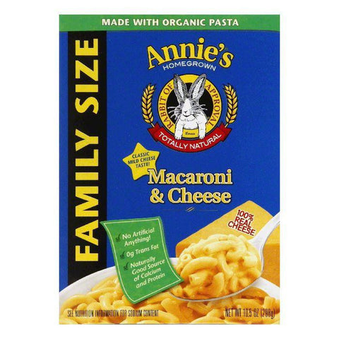 Annies Homegrown Mac & Cheese Classic Family Size, 10.5 OZ (Pack of 6)