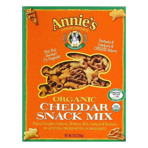 Annies Homegrown Organic Cheddar Snack, 9 OZ (Pack of 12)