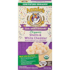 Annie's Homegrown 25th Anniversary Edition Organic Shells & White Cheddar Macaroni & Cheese 6 Oz (Pack of 12)