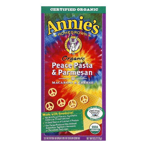 Annies Homegrown Organic Pease Pasta, 6 OZ (Pack of 12)