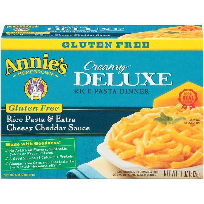 Annie's Homegrown Creamy Deluxe Rice Pasta & Extra Cheesy Cheddar Sauce Dinner 11 Oz  (Pack of 12)