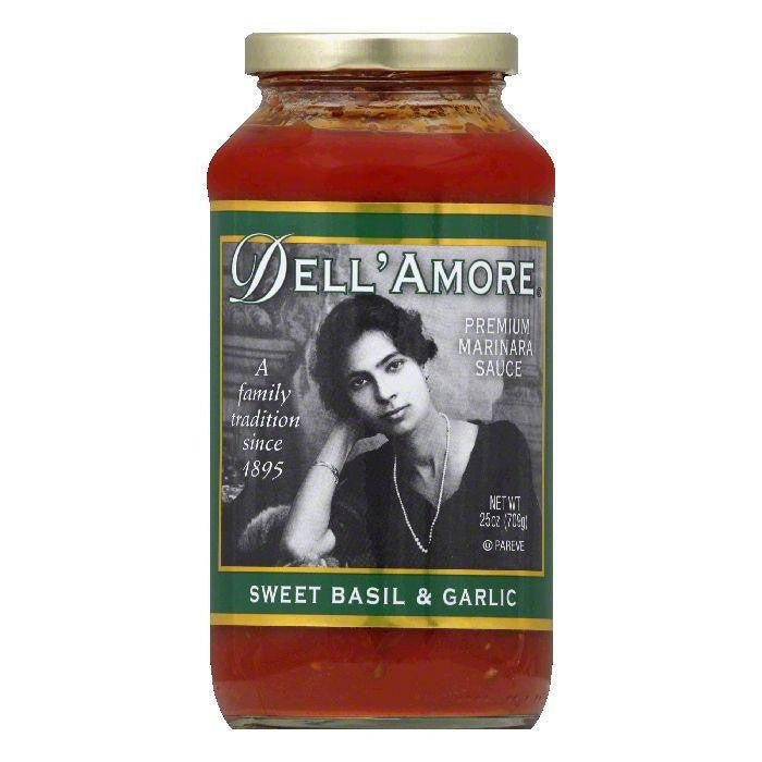 Dell Amore Pasta Sauce Basil & Garlic, 25 OZ (Pack of 6)