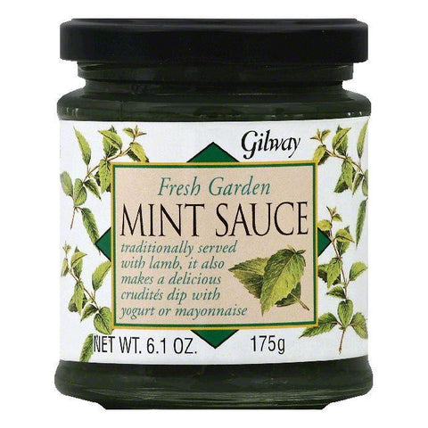 Gilway Fresh Garden Mint Sauce, 6.1 OZ (Pack of 6)